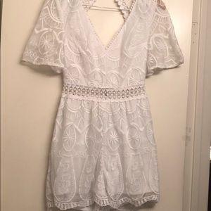 White lace, Romper